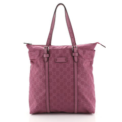 Gucci Light Zip Tote Guccissima Nylon Tall Purple 448159