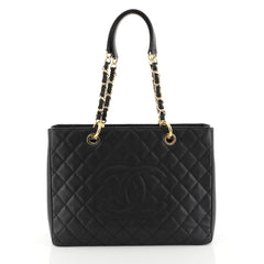 Chanel Grand Shopping Tote Quilted Caviar Black 448621
