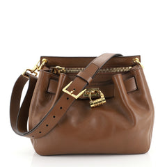 Tom Ford Lock Front Crossbody Bag Leather Small Brown 448701