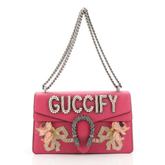Gucci Dionysus Bag Embellished Leather Small Pink 448764