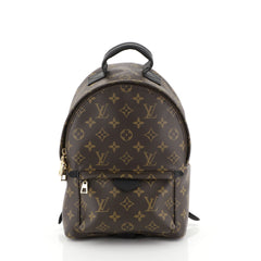 Louis Vuitton Palm Springs Backpack Monogram Canvas PM Brown 448906