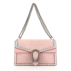 Gucci Dionysus Bag Crystal Embellished Suede Small Pink 449341