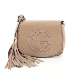 Gucci Soho Chain Crossbody Bag Patent Small Pink 449382