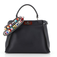 Fendi Peekaboo Bag Rigid Leather Regular