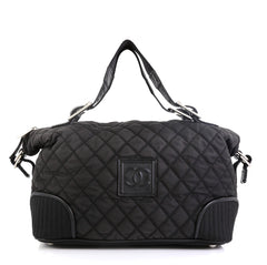 Chanel Sport Line Weekender Bag Quilted Canvas Large