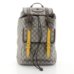 Gucci Courrier Soft Backpack GG Coated Canvas Large Brown 4500401