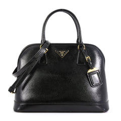 Prada Open Promenade Bag Vernice Saffiano Leather Large