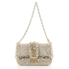Christian Dior Miss Dior Flap Bag Tweed Medium Neutral 4503028