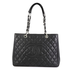 Chanel Grand Shopping Tote Quilted Caviar Black 450481