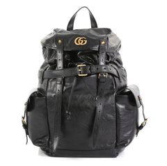 Gucci GG Marmont Multipocket Backpack Leather Large Black 450673