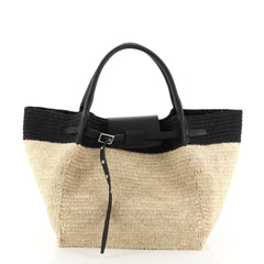 Celine Big Bag Raffia Medium Black 45111102