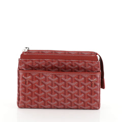 Goyard Miroir Toiletry Bag Coated Canvas PM Red 45111104