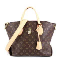 Louis Vuitton Flower Zipped Tote Monogram Canvas MM Brown 45111112