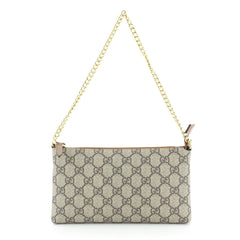 Gucci Wrist Wallet GG Coated Canvas Brown 4511122