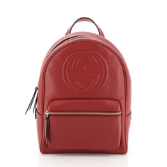 Gucci Soho Chain Backpack Leather Red 4511175