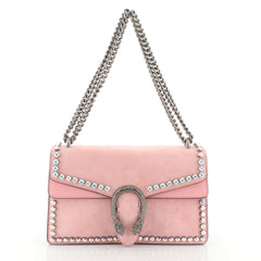 Gucci Dionysus Bag Crystal Embellished Suede Small Pink 451741