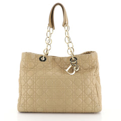 Christian Dior Soft Chain Tote Cannage Quilt Lambskin Large Neutral 451762