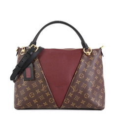 Louis Vuitton V Tote Monogram Canvas and Leather MM Brown 451951