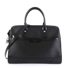 Louis Vuitton Bourget Duffle Epi Leather 40 Black 4521910