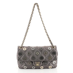 Chanel Paris-Dubai Medals Flap Bag Quilted Embellished Perforated Leat...