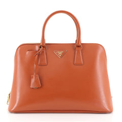 Prada Promenade Bag Vernice Saffiano Leather Large Orange 452521