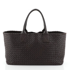 Bottega Veneta Cabat Tote Intrecciato Brushed Calfskin Medium