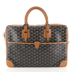 Goyard Ambassade Briefcase Coated Canvas MM Brown 4527231