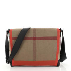 Burberry Burleigh Messenger House Check Canvas Medium Print 452727
