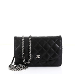 Chanel Wallet on Chain Quilted Lambskin Black 4528124