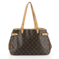 Louis Vuitton Batignolles Handbag Monogram Canvas Horizontal Brown 452...