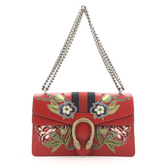 Web Dionysus Bag Embroidered Leather Small