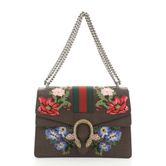 Web Dionysus Bag Embroidered Leather Medium