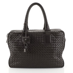 Bottega Veneta Zip Satchel Intrecciato Nappa Medium Brown 45304120