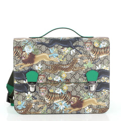 Gucci Children's Backpack Printed GG Coated Canvas