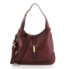 Gucci New Jackie Bag Leather Medium Red 4530421
