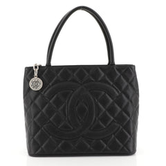 Chanel Medallion Tote Quilted Caviar Black 4530444
