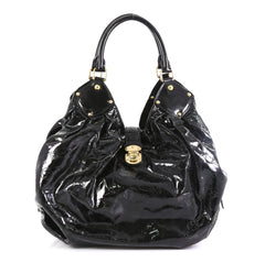 Louis Vuitton XL Hobo Surya Leather Black 4530479