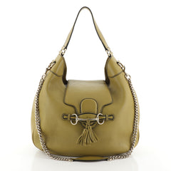 Gucci Emily Hobo Leather Medium Green 453049