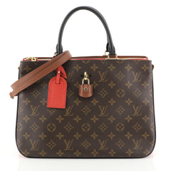 Louis Vuitton Millefeuille Handbag Monogram Canvas and Leather  Red 45316100