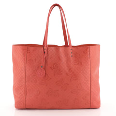 Bottega Veneta Tote Butterfly Embossed Intrecciomirage Intarsio Leathe...