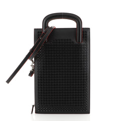 Christian Louboutin Trictrac Portfolio Bag Leather and Spiked Leather...