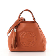 Gucci Soho Shoulder Bag Leather Small Orange 4531617