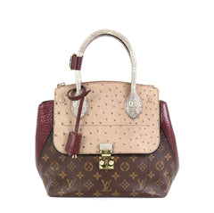 Louis Vuitton Majestueux Tote Monogram Canvas and Exotics PM Red 4531635