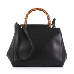 Gucci Nymphaea Tote Leather Small Black 4531636