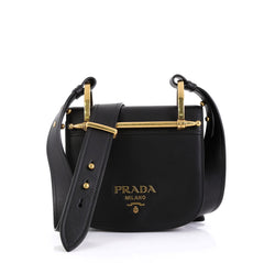 Prada Pionniere Saddle Crossbody Bag City Calfskin Small Black 4531641