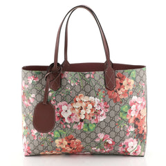 Gucci Reversible Tote Blooms GG Print Leather Large Brown 4531664