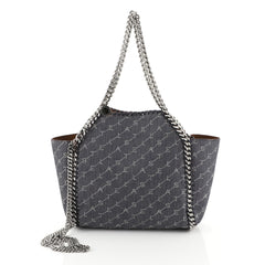 Stella McCartney Falabella Reversible Tote Printed Denim Mini Blue 453...