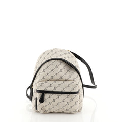 Stella McCartney Front Pocket Backpack Printed Denim Mini Neutral 4531...