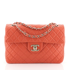 Chanel Classic Soft Flap Bag Quilted Lambskin Maxi Red 453561