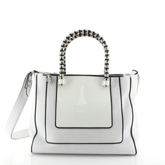 Bvlgari Serpenti Tote Leather Medium White 453571
